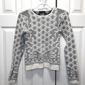 RW & Co Metallic Chenille Knit Scoop Neck Sweater